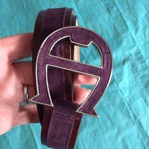 Etienne Aigner purple suede leather nwot 1x-2x